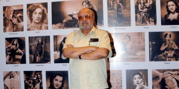 Indian Bollywood filmmaker Shyam Benegal poses as he attends the screening of his documentary film 'The...