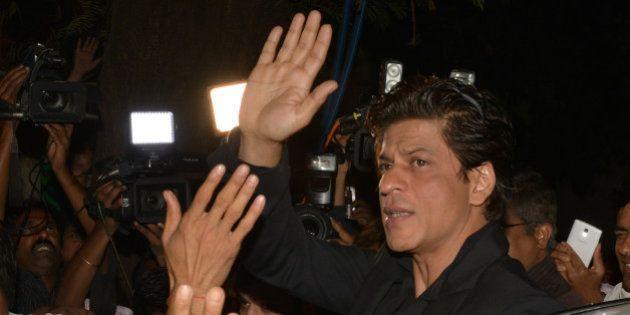 MUMBAI, INDIA JANUARY 27: Shahrukh Khan at Sanjay Leela Bhansalis Padma Shri honour celebrations in Mumbai.(Photo...