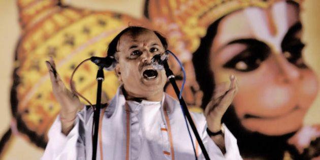 BANGALORE, INDIA: Vishwa Hindu Parishad (VHP,World Hindu Council) international secretary Pravin Togadia...