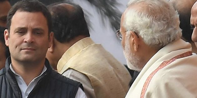 A file photo of Congress president Rahul Gandhi and Prime Minister Narendra