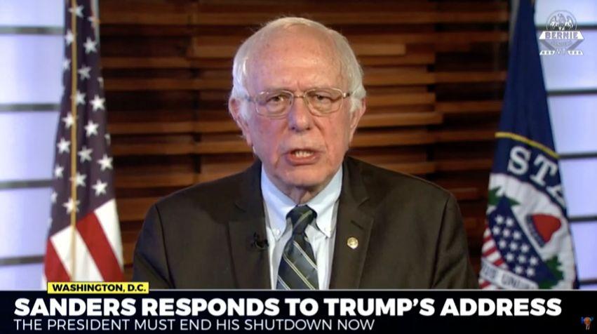 Sen. Bernie Sanders gave a sharp rebuke of the president's speech.