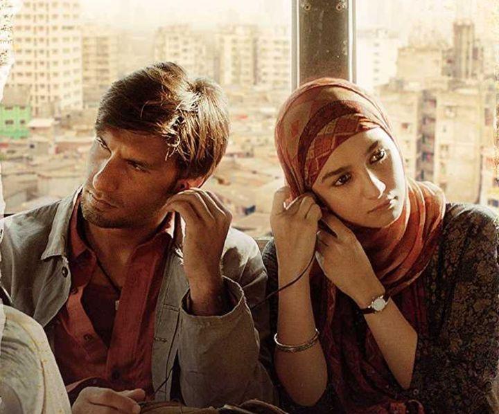 Ranveer Singh and Alia Bhatt in a still from the film.