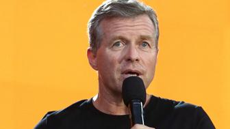 Congressman Charlie Dent speaks at the Global Citizen Festival in Central Park on Saturday, Sept. 23, 2017, in New York. (Photo by Greg Allen/Invision/AP)