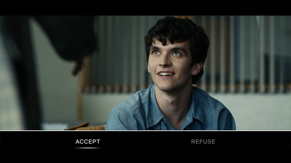 A screengrab from 'Black Mirror: Bandersnatch', showing how the viewer decides Stefan's