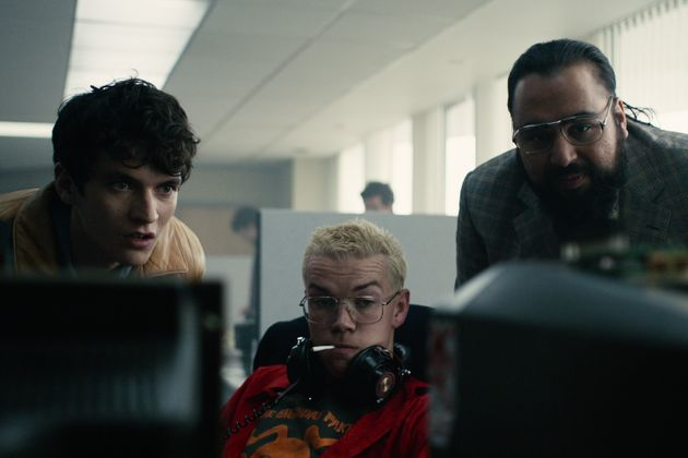 Fionn with 'Bandersnatch' co-stars Will Poulter andAsim