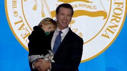 Every Parent Can Relate To The California Governor Being Upstaged By His