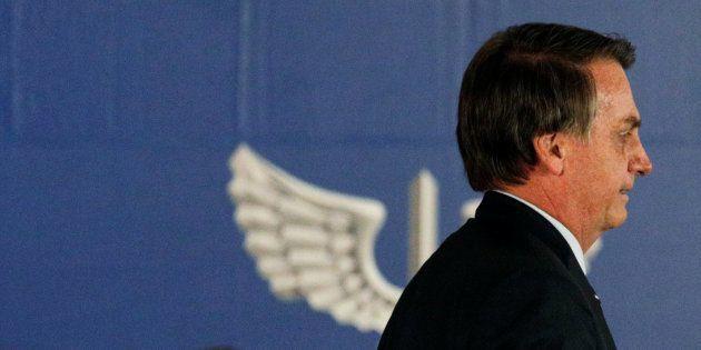 Jair Bolsonaro na posse de seu ministro da Defesa, Fernando Azevedo e