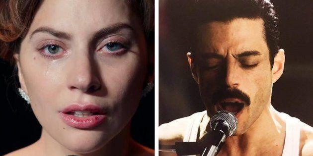 Tanto Lady Gaga quanto Rami Malek evitam concorrentes fortes para garantir prêmio de melhor atriz e ator...