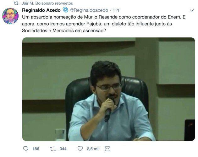 Paródia de perfil de jornalista retweetado por