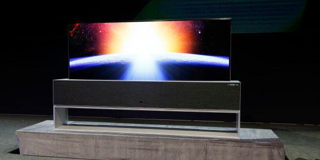 A TV R LG Signature OLED foi apresentada nesta segunda-feira antes do início da CES