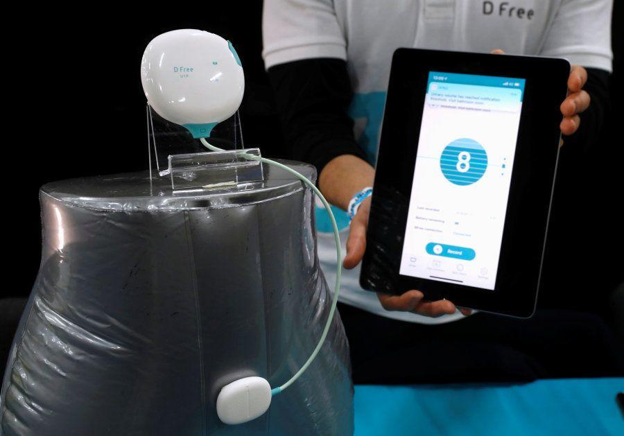 Esse é o D Free, aparelho de ultrassom criado para ajudar pessoas que sofrem de