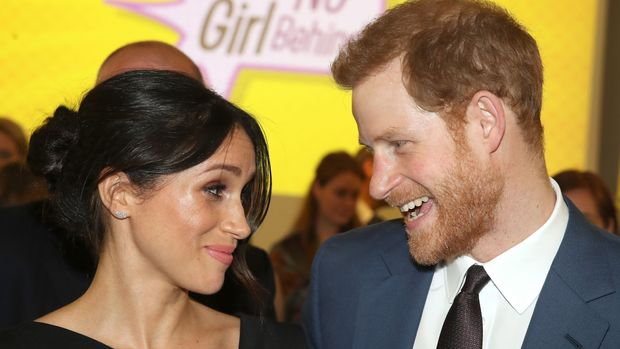 3 in series of 10. File photo 19/4/2018 of Prince Harry and Meghan Markle attending a women's empowerment reception at the Royal Aeronautical Society in London during the Commonwealth Heads of Government Meeting.