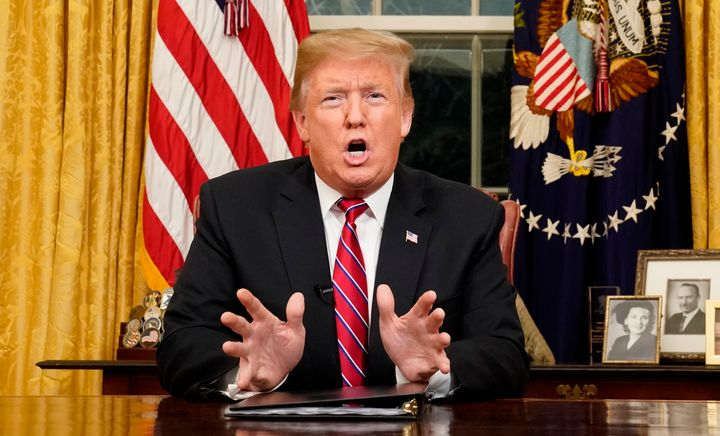 President Donald Trump said Tuesday that Democrats were refusing to fund border security.