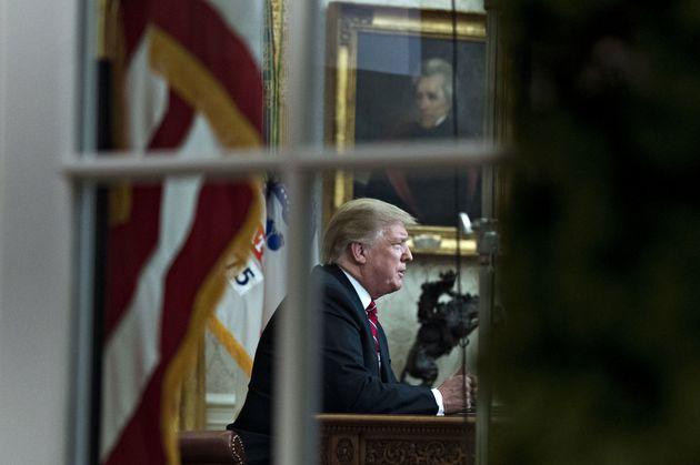 Donald Trump hielt am Dienstag zur Prime Time eine auf allen Sender übertragende Ansprache an sein Volk.