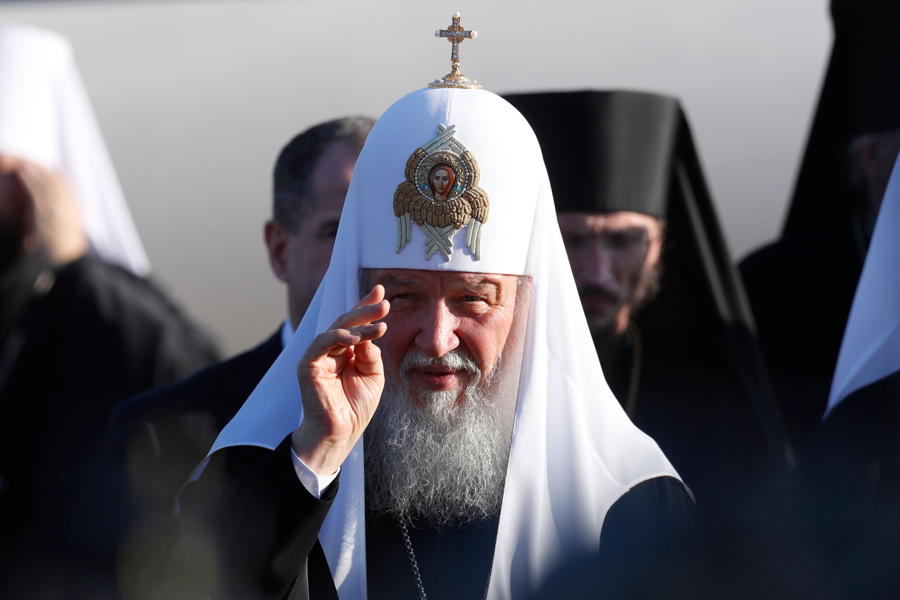 Patriarch Kirill is the leader of the Russian Orthodox Church.