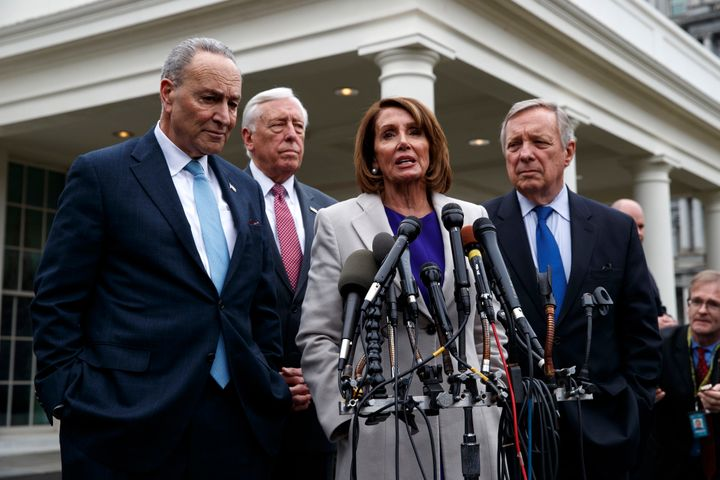 House Speaker Nancy Pelosi and Senate Minority Leader Chuck Schumer didn't have to do much heavy lifting to undercut Tr