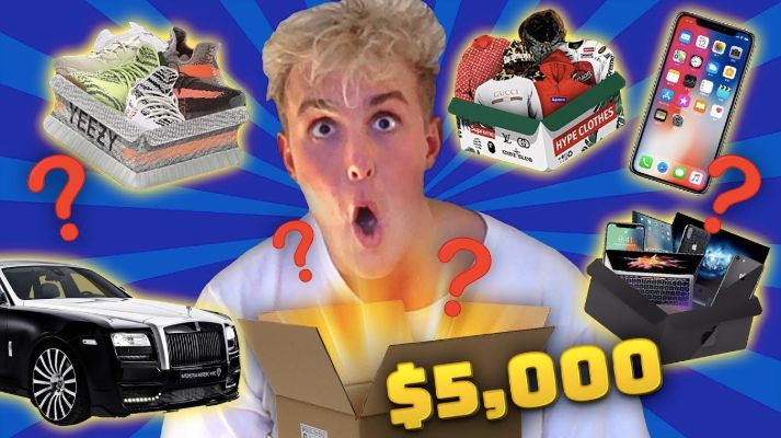 "Jake Paul posted the Mystery Brand-sponsored video ""I Spent $5,000 ON MYSTERY BOXES & You WONT Believe WHAT I GOT... (ins"