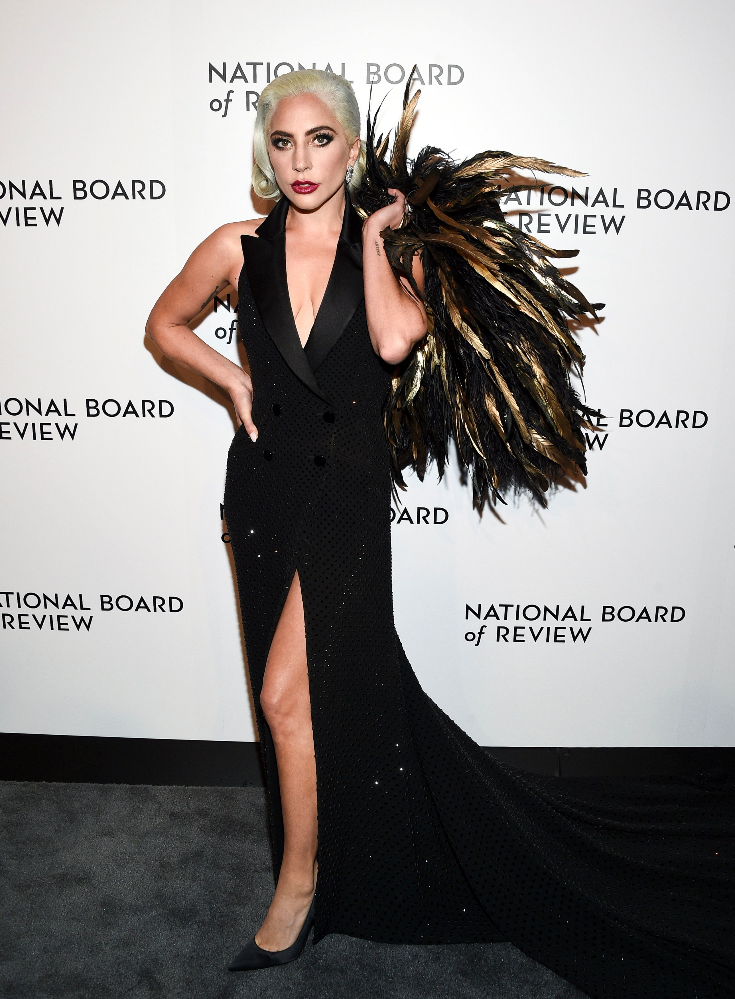 Best actress award honoree Lady Gaga attends the National Board of Review awards gala at Cipriani 42nd Street on Tuesday, Jan. 8, 2019, in New York. (Photo by Evan Agostini/Invision/AP)