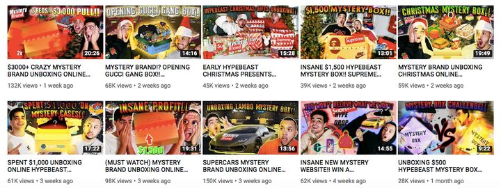Mystery Brand videos have gone viral on YouTube.