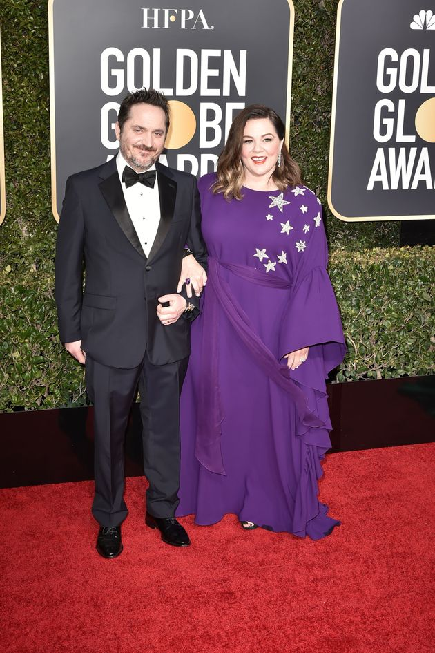 Ben Falcone and Melissa McCarthy arrive at the 76th annual Golden Globe Awards on