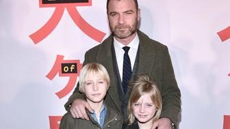 NEW YORK, NY - MARCH 20:  Alexander Pete Schreiber, Liev Schreiber and Samuel Kai Schreiber attend the 'Isle of Dogs' New York Screening at Metropolitan Museum of Art on March 20, 2018 in New York City.  (Photo by Steven Ferdman/Patrick McMullan via Getty Images)