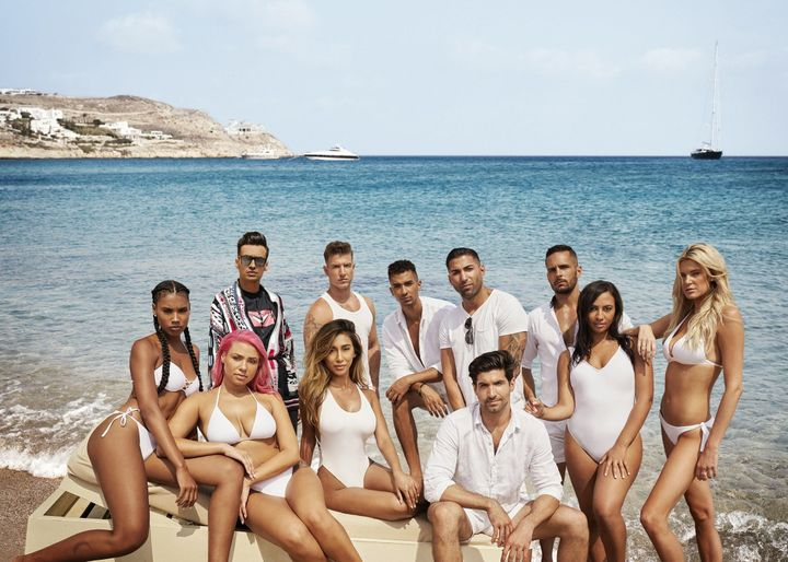 "The cast of ""Lindsay Lohan's Beach Club"" in a publicity still released by MTV."