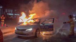 광화문에서 분신한 택시기사가 10일 오전
