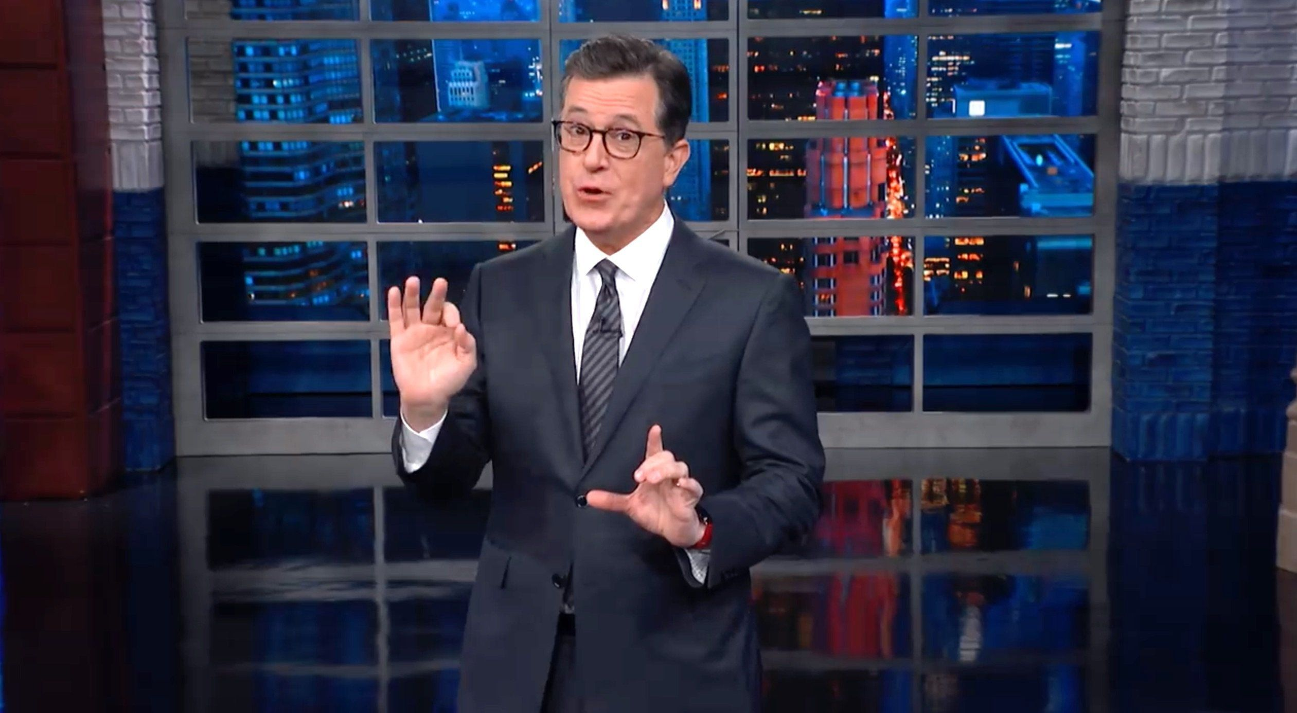 Stephen Colbert Reveals The Real 'National Emergency' In The Trump White