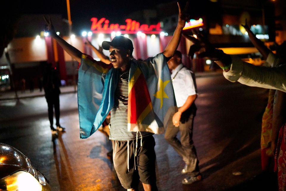 콩고민주공화국 국민들이 18년 만의 정권교체에