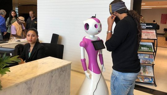 An Indian Start-Up Made A Robot Receptionist: Of Course She's A