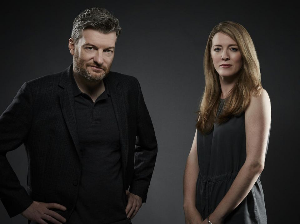 Charlie Brooker and Annabel
