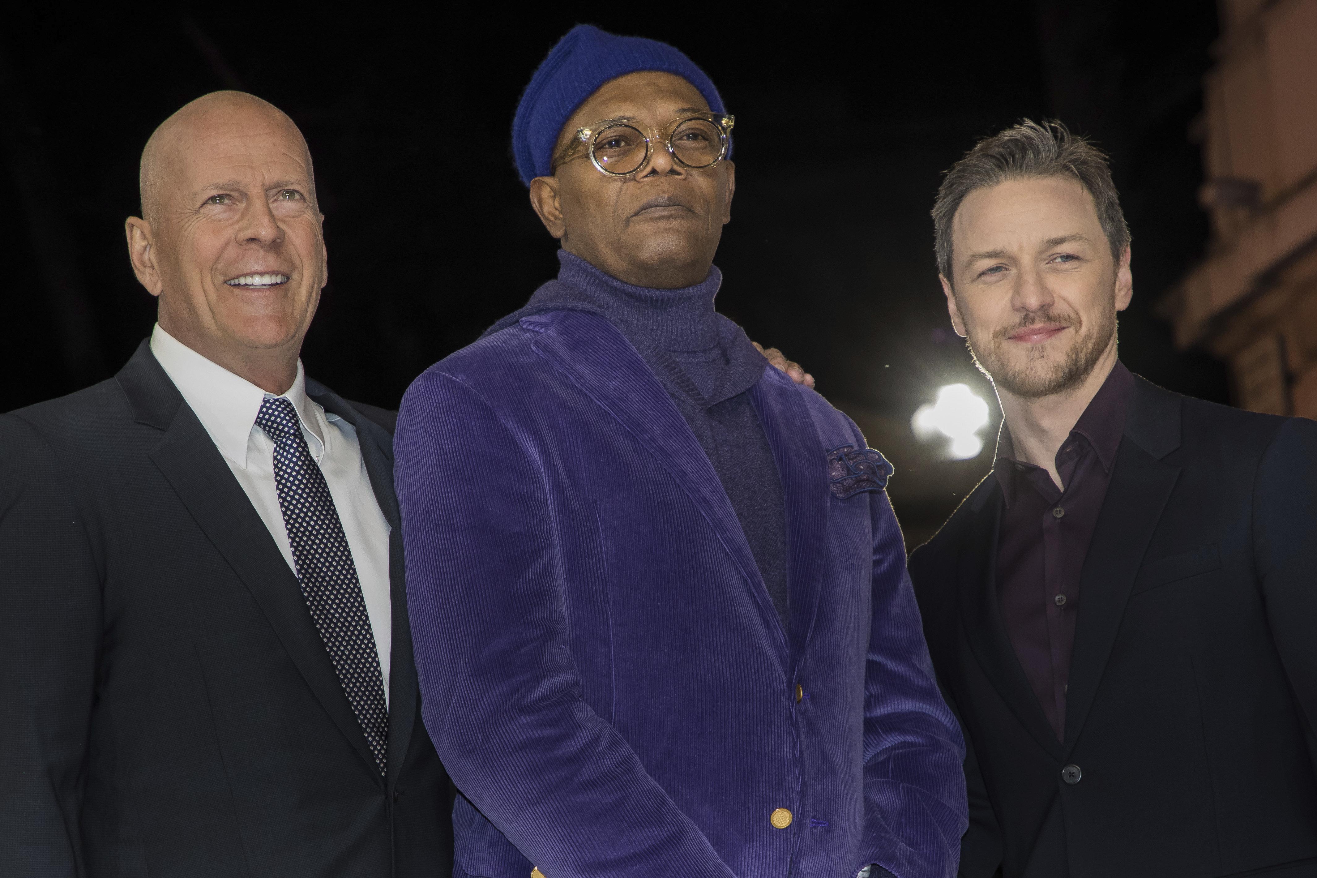 Willis, Jackson And McAvoy Attend European Premiere of