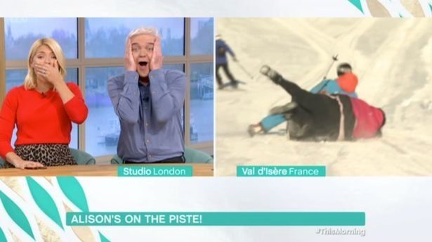 Alison Hammond Crashes Down A Mountain As She Presents 'This Morning' Ski