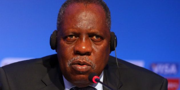 COSTA DO SAUIPE, BAHIA, BRAZIL - DECEMBER 03: Issa Hayatou, Deputy Chairman of the Organizing Committee...