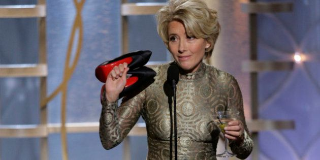 BEVERLY HILLS, CA - JANUARY 12: In this handout photo provided by NBCUniversal, Presenter Emma Thompson...