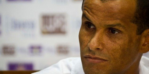 SAO PAULO, BRAZIL - JANUARY 22: Rivaldo speaks during the press conference for the presentation of new...