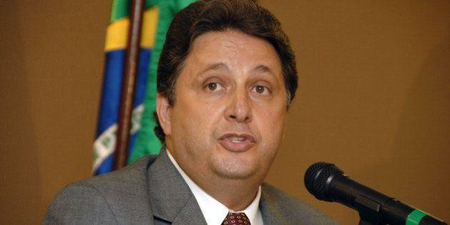 BRAZIL - FEBRUARY 09: Former Rio de Janeiro Governor Anthony Matheus Garotinho speaks at an event sponsored...