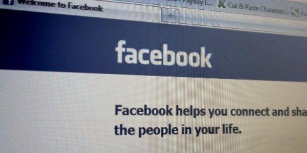 The Facebook login as seen in December