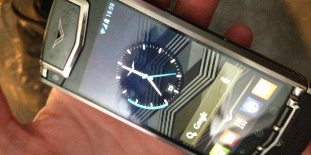 #vertuti VERTU TI Smartphone Android Le foto del lancio milanese nella boutique di via montenapoleone,...