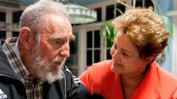 Dilma troca ideia com hermano Fidel em