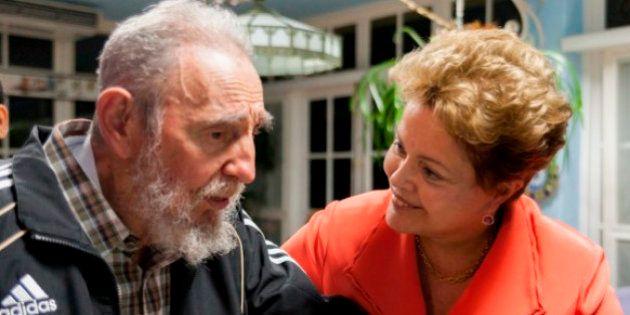 Dilma para Fidel: obrigada pelos
