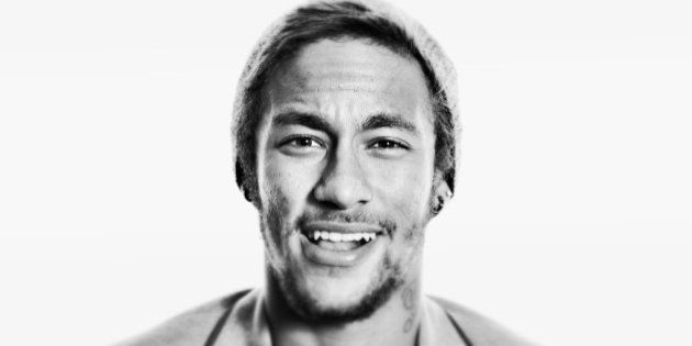 ZURICH, SWITZERLAND - JANUARY 13: (EDITORS NOTE: This image was processed using digital filters) Neymar...