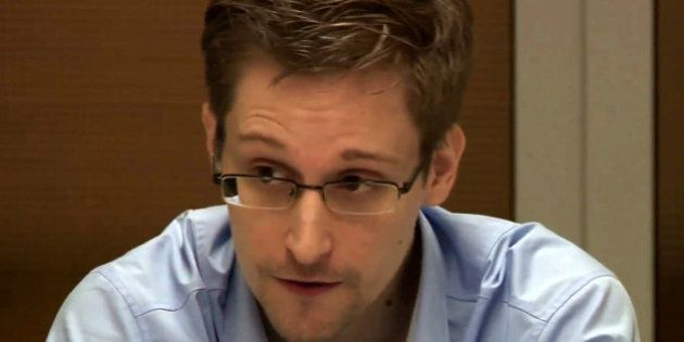MOSCOW, RUSSIA - OCTOBER 31: NSA whistleblower Edward Snowden during a meeting with German Green Party...
