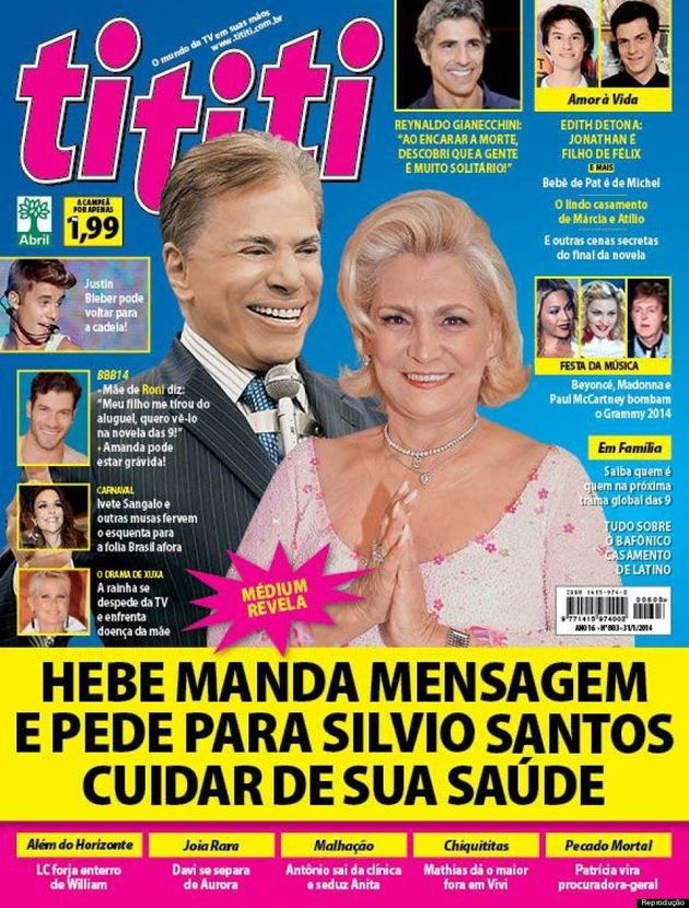Hebe Camargo manda mensagem psicografada para Silvio