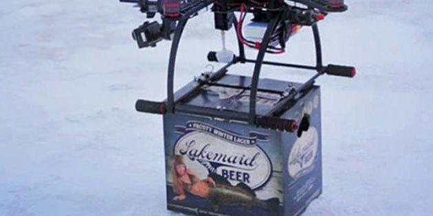 Drone faz delivery de cerveja gelada em comercial