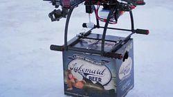 ASSISTA: Drone faz delivery de cerveja