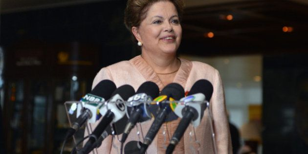Brazilian President Dilma Rousseff gives a press conference, on January 28, 2014, in Havana. Rousseff...