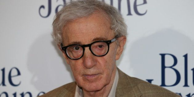 US film director Woody Allen poses during a photocall for the French Premiere screening of 'Blue Jasmine',...