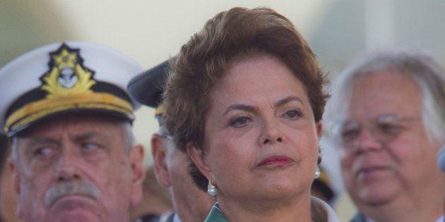 BRASILIA, BRAZIL - APRIL 19: Brazilian President Dilma Rousseff, participates of the celebration of the...