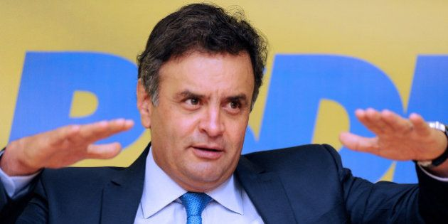Aecio Neves, presidential hopeful for the Brazilian Social Democratic Party (PSDB) in the next elections,...
